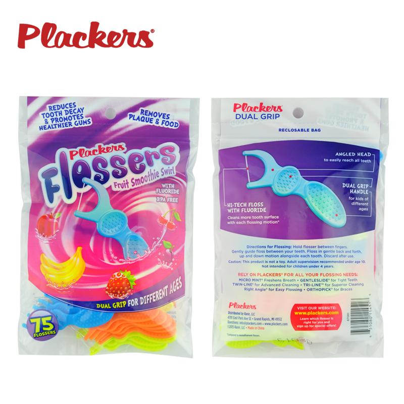 PLACKERS儿童专用牙线棒